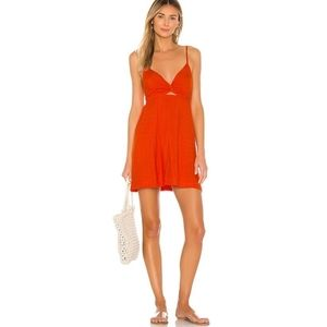 NWT L*Space Sofia Cover up Dress in Poppy red